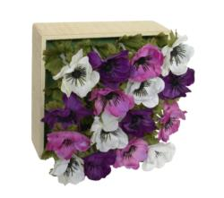 Concobox Amapolas lilas base natural - 20x20cm