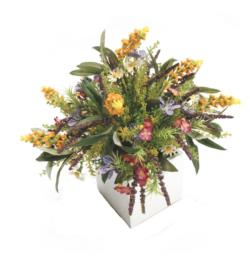 White box bouquet multicolor - 11x11x30cm