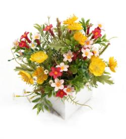 White box bouquet surtido - 8x8x20cm