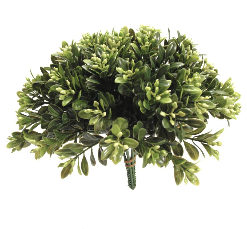 Pick de Boxwood con flor (6 picks) - 20cm