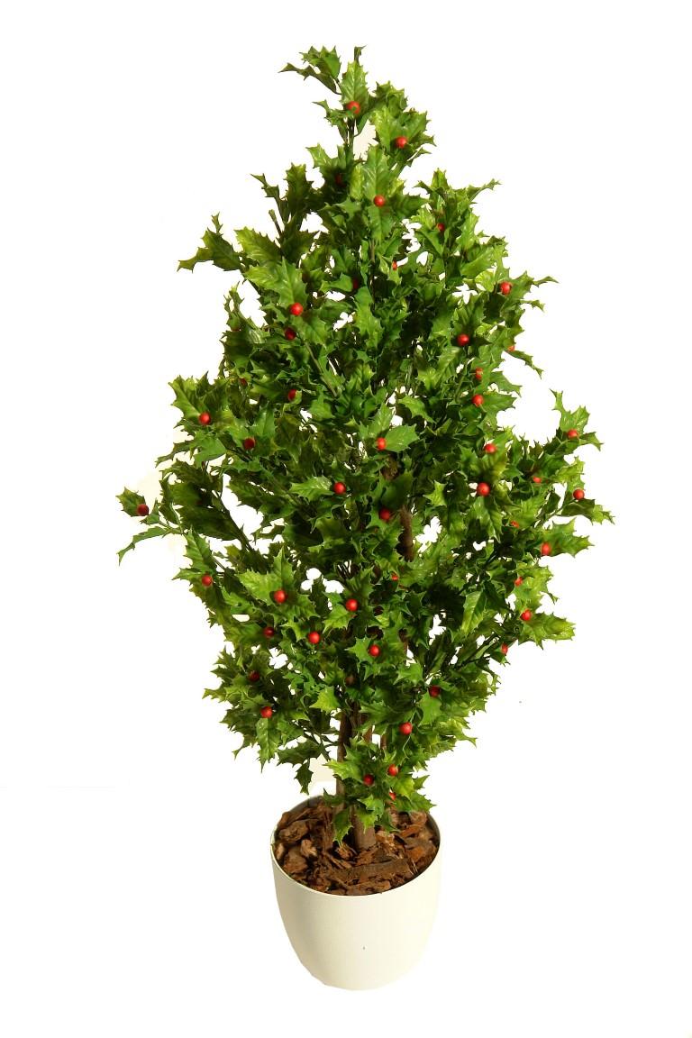 Arbol de acebo verde plastico exterior 80cm - Plantas verdes exterior ...
